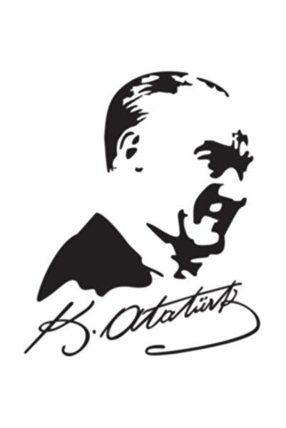 Otografik Imzalı Atatürk Silüeti Oto Sticker 15x19cm