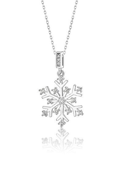 Papatya Silver 925 Ayar Gümüş Kar Tanesi Kolye