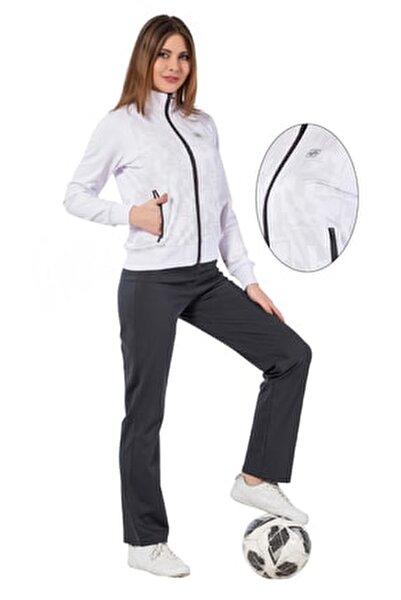 kadın eşofman takımı dalgıç beyaz 1219-08