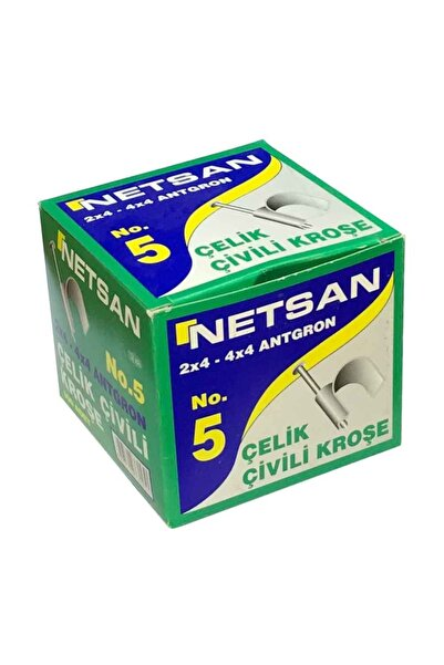 Netsan Beton Çivili Kablo Kroşesi 100 Adet No:2