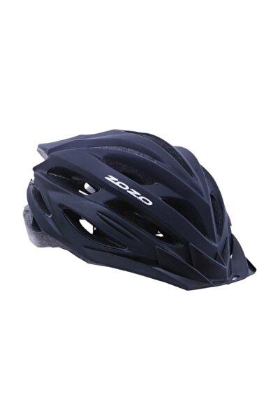 Zozo Mv 29 Mat Siyah Arka Led Lambalı Bisiklet Kaskı