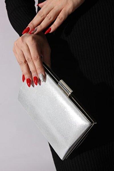 Gümüş Kadın Abiye Çanta 9050278-03