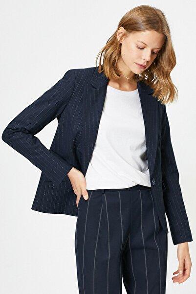 Koton Kadın Lacivert Cep Detaylı Ceket