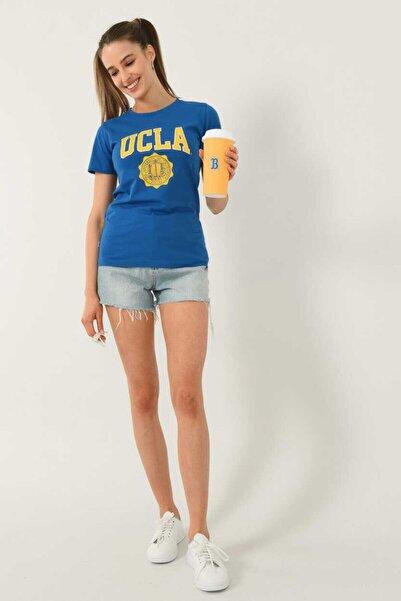 UCLA Kadın Mavi T-Shirt