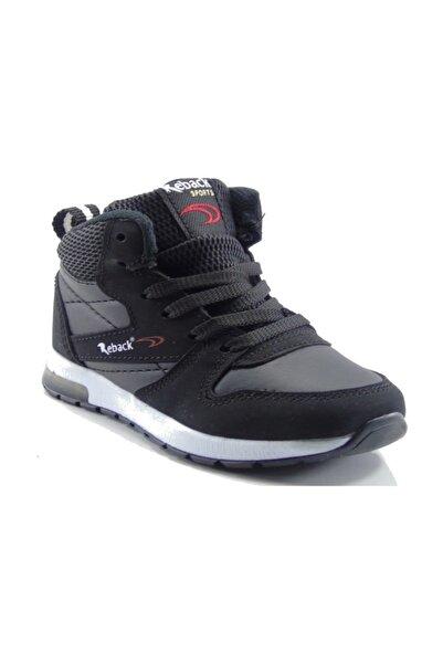 Reback Siyah Boğazlı Bebe Işıklı Spor Ayakkabı