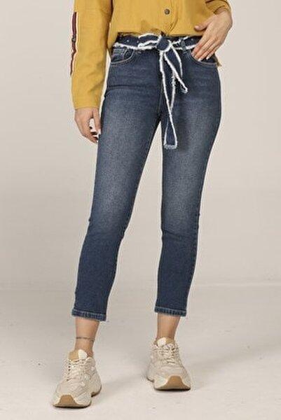 Petra Vıntage Dark Blue Denim Pantolon