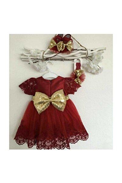 Pugi Baby Kız Bebek Bordo Mevlüt Özel Gün Elbisesi  0  6 Ay