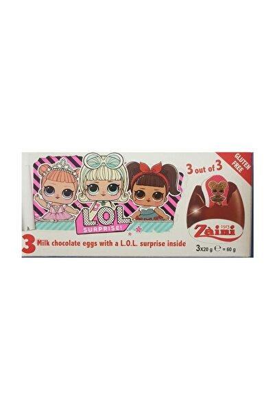 Zaini L.o.l. Surprise! Lol Bebek Glutensiz Sütlü ÇikolatalıSürpriz Yumurta 3 x 20 gr 3 Lü
