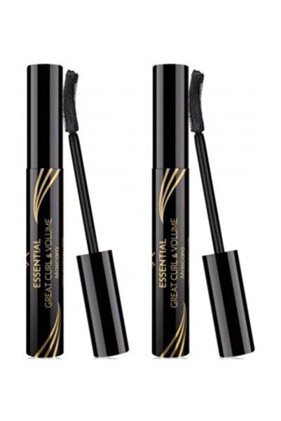 Golden Rose Kıvrım & Hacim Etkili Siyah Maskara - Essential Great Curl & Volume Mascara x 2 Adet