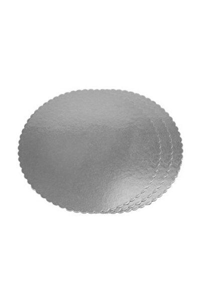 TT Tahtakale Toptancıları Yuvarlak Karton Pasta Altlığı  30 cm  (3 Adet)  Gümüş