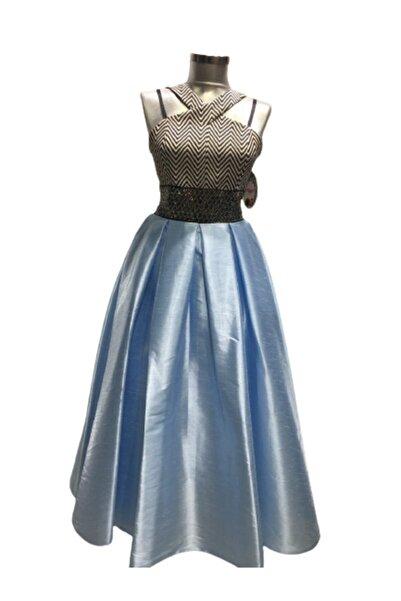 Babooni Kız Çocuk Mavi Siyah Abiye 10-14 Yaş