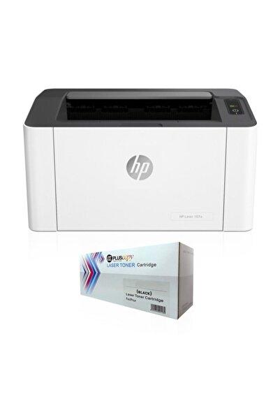 HP 4ZB77A Laserjet HP 107a Lazer Yazıcı Sınırsız Chipli Ve Tam Dolu Pluscopy Tonerli