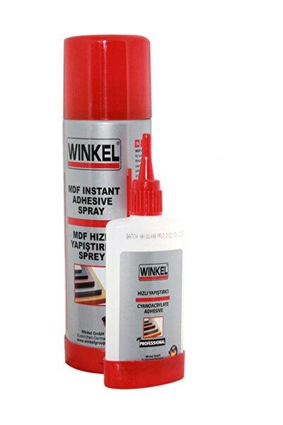 Winkel Mdf Ahşap Metal Hızlı Yapıştırıcı Sprey Seti 400+100 Ml
