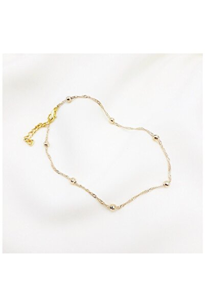 X-Lady Accessories Altın Rengi Dorika Zincir Halhal