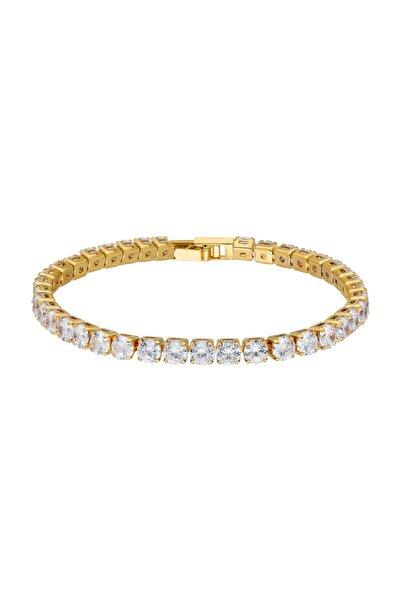 Chavin 5 Mm. Gold Su Yolu Bayan Taşlı Bileklik Ef18sr