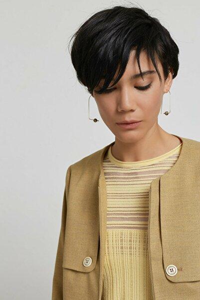 Yargıcı Kadın Safran Yakasız Ceket 9KKCK5187X