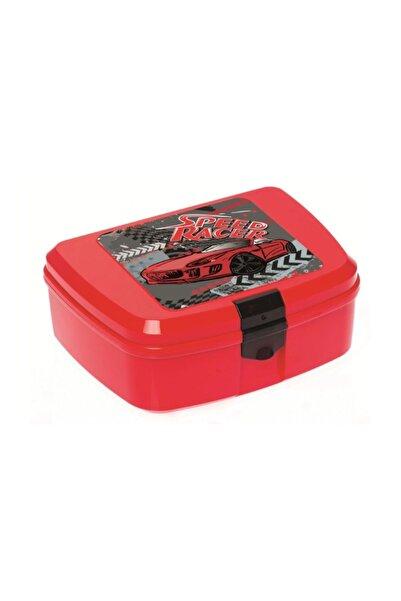 Herevin Erkek Çocuk Kırmızı Araba Baskılı  Beslenme Kutusu