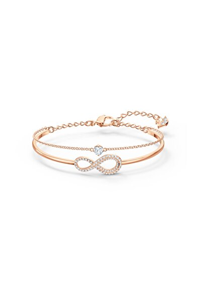 Swarovski Bileklik Swa Infinity-bangle Chain Cry-czwh-ros M 5518871