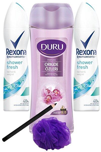 Rexona Shower Fresh Kadın Deo 150 Ml + Duru Orkide Duş Jeli 450ml/set 5 Parça
