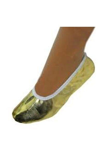 salarticaret Altın Rengi Golt Lame Sarısı Pisipisi Bale Ayakkabısı