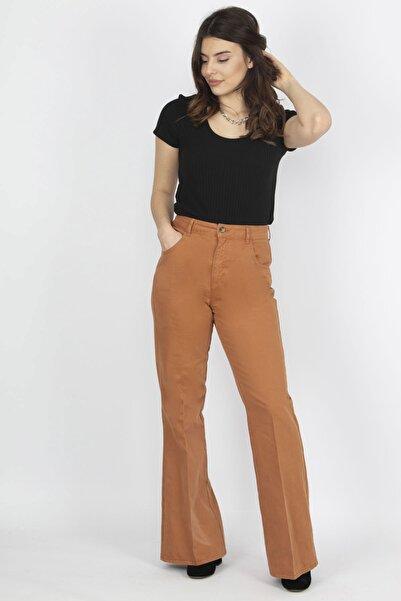 Şans Kadın Kiremit Cep Detaylı Pantolon 26N14965
