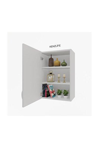 Kenzlife Mutfak Dolabı Irem  060.060.32 Byz 2 Raflı Kapaklı  Ofis Banyo Kiler Evrak Kitaplık
