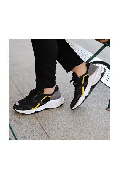 TETRİ Siyah Deri Spor Ayakkabı