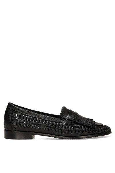 Nine West FAINRA 1FX Siyah Kadın Loafer Ayakkabı 101031012
