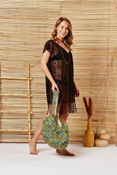 MODAFABRİK Diana Siyah Plaj Elbisesi