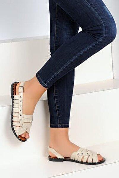Bej Kadın Sandalet A1110-19