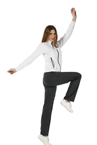 Crozwise Kadın Beyaz Dalgıç Spor Eşofman Takımı - 2774