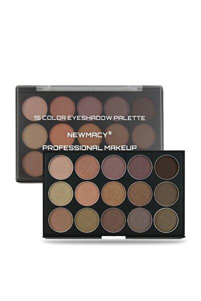 Newmacy 15'li Profesyonel Göz Farı Paleti - 15 Colors Eyeshadow Palette N3 8681702001698