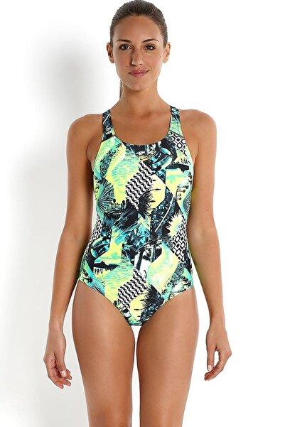 SPEEDO Endurance 10 Kadın Yüzücü Mayosu - Yeşil/Siyah