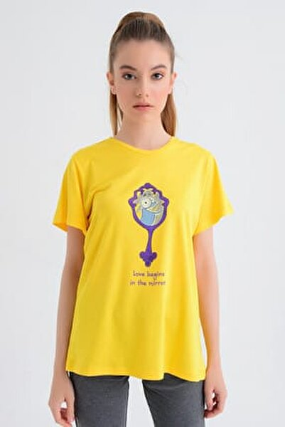 Kadın T-shirt - Wormie Ayna - WRMYN