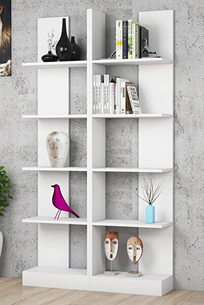 Puzzle Design İkiz Beyaz Kitaplık