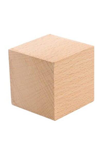Doğal Ahşap Küp Blok 5 cm 3 adet