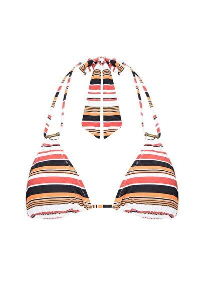 Penti Çizgili Arizona Triangle Bikini Üstü