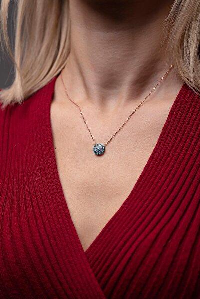 Ninova Silver Nazarlık Model Rose Kaplama Gümüş Kolye