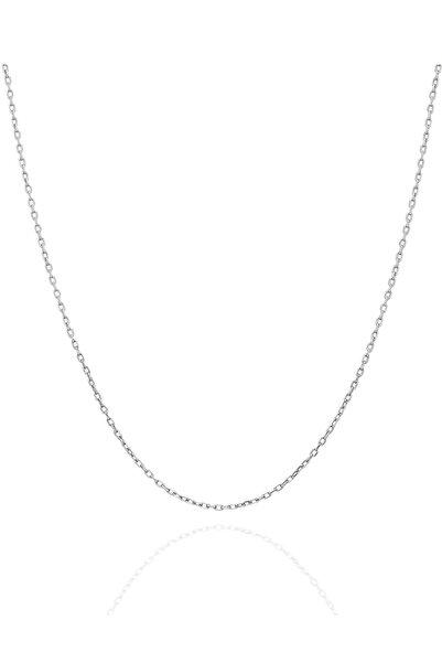 İzla Design Kadın Hayalet Modeli 45 CM Gümüş Zincir İZLASLVR00597