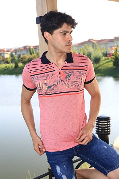 Oksit Louis 19Ly499 Slim Fit Erkek Polo Yaka Tshirt