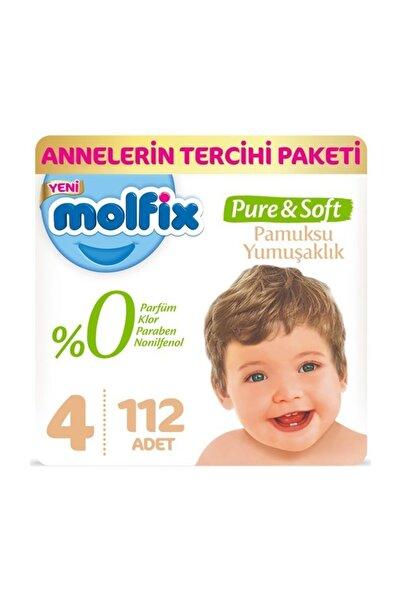 Molfix Pure&Soft Bebek Bezi 4 Beden 56lı 2 Paket 112 Adet