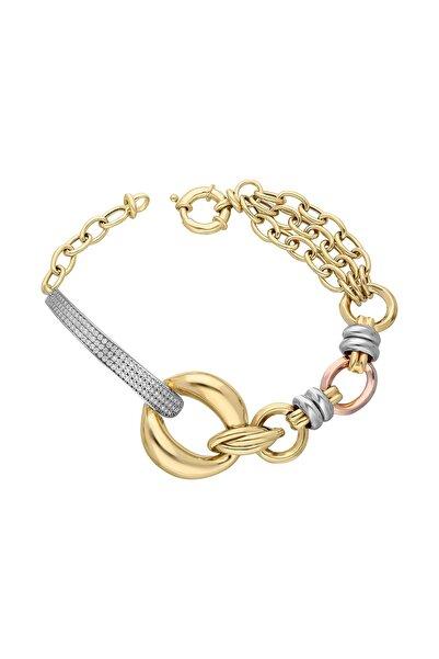 Chavin Hallow Altın Modeli Mikron Kaplama Gümüş Bileklik dy96