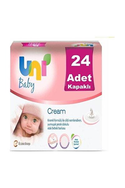 Uni Baby Cream Pişik için Islak Mendil 24'lü Paket
