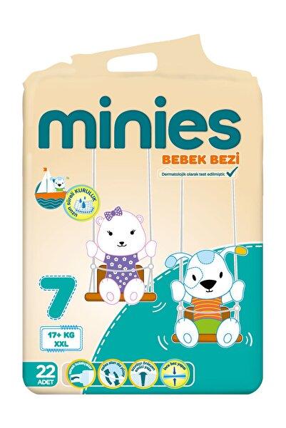 Minies Külot Bez 7 Beden 22 Adet 17+Kg  Xx Large