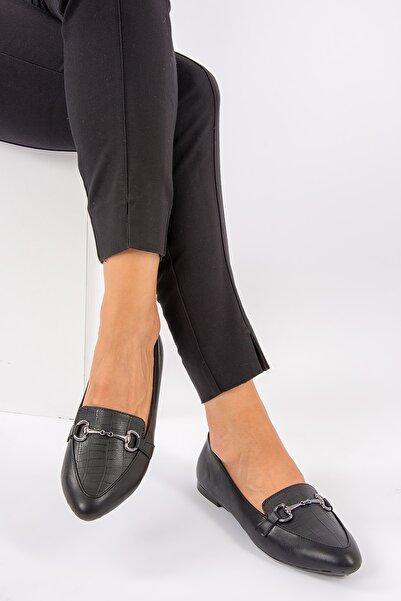 Fox Shoes Siyah Kadın Babet G290010011
