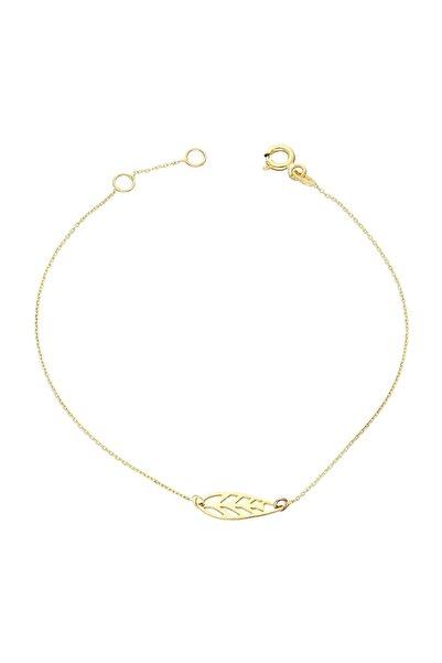 Glorria Kadın Altın Yaprak Bileklik SV0149