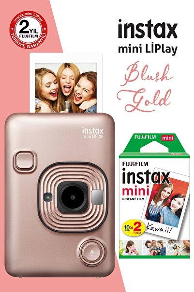Fujifilm instax mini LiPlay Hybrid Blush Gold Fotoğraf Makinesi 20li mini Film