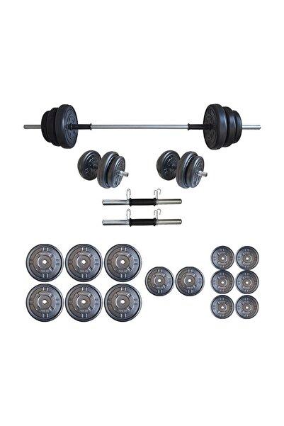 Dambılcım Platinum 75 kg Halter Seti 75 kg Dambıl Seti Ağırlık Seti Vücut Geliştirme Aleti
