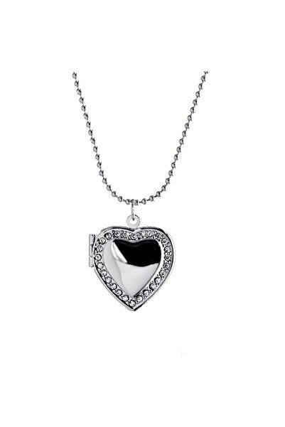 Chavin Kadın İçi Açılan Zincirli Taşlı Kalp Kadın  Kolye  ehy-eb54