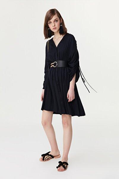 İpekyol Kadın Koyu Lacivert Ayarlanabilir Kol Gömlek Elbise IS1190002248069